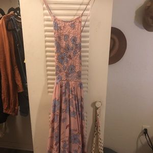 Urban Outfitters Pink Floral Summer Dress